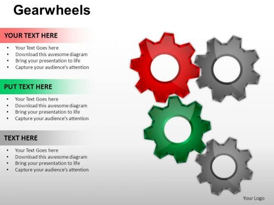 PowerPoint Layout Strategy Gear Wheel Ppt Design