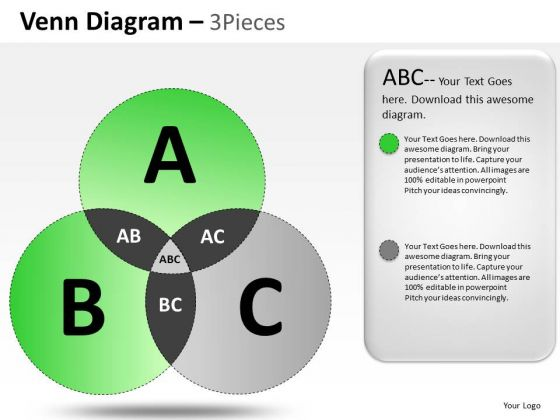 PowerPoint Layout Strategy Venn Diagram Ppt Slides