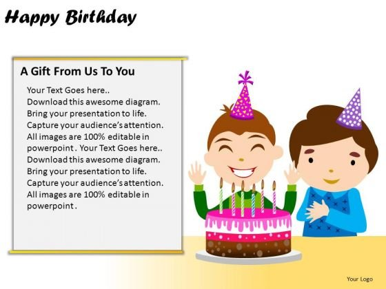 PowerPoint Layout Success Happy Birthday Ppt Themes
