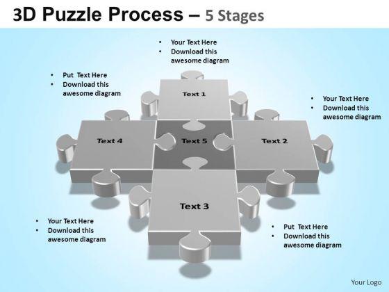 PowerPoint Layout Success Puzzle Process Ppt Design Slides