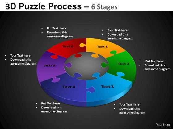 PowerPoint Layout Teamwork Pie Chart Puzzle Process Ppt Slidelayout