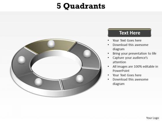 PowerPoint Layout Teamwork Quadrants Ppt Presentation