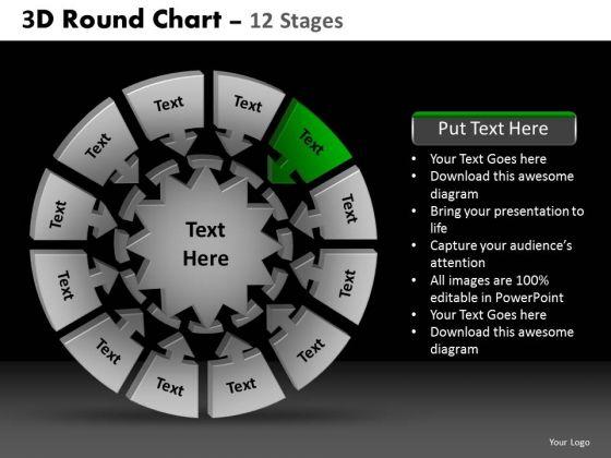PowerPoint Layout Teamwork Round Chart Ppt Presentation Designs