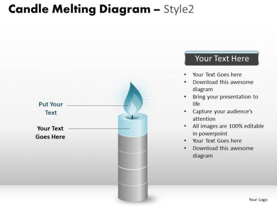 PowerPoint Layouts Business Candle Melting Ppt Process