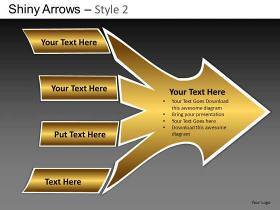 PowerPoint Layouts Business Designs Shiny Arrows 2 Ppt Themes