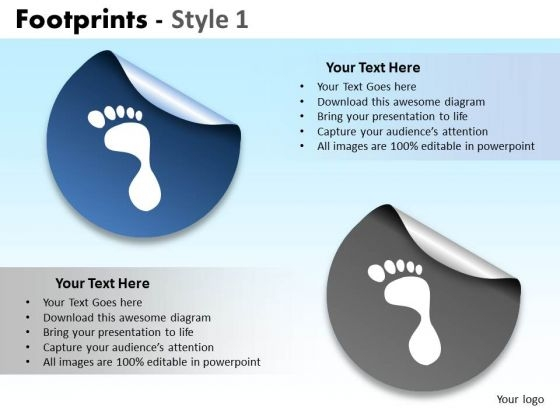 PowerPoint Layouts Business Leadership Footprints Ppt Backgrounds