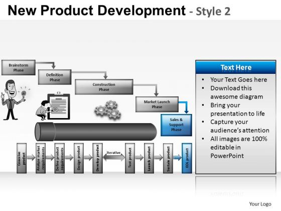 PowerPoint Layouts Business Leadership New Product Development Ppt Layouts