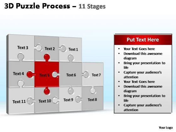 PowerPoint Layouts Business Puzzle Process Ppt Slides