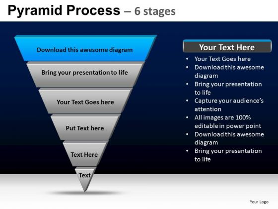 PowerPoint Layouts Business Pyramid Process Ppt Design Slides