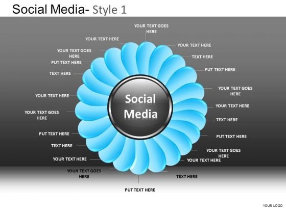 PowerPoint Layouts Business Teamwork Social Media Ppt Design Slides
