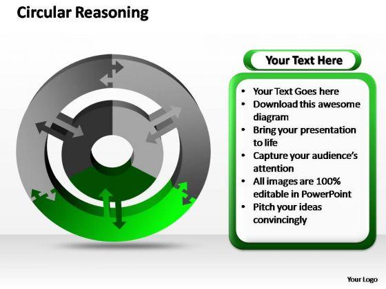 PowerPoint Layouts Chart Circular Reasoning Ppt Themes