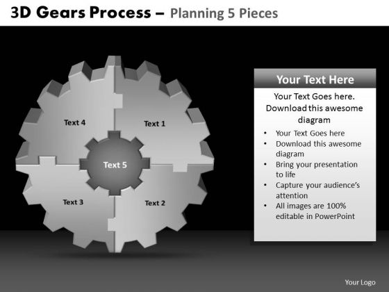 PowerPoint Layouts Chart Gears Process Ppt Backgrounds