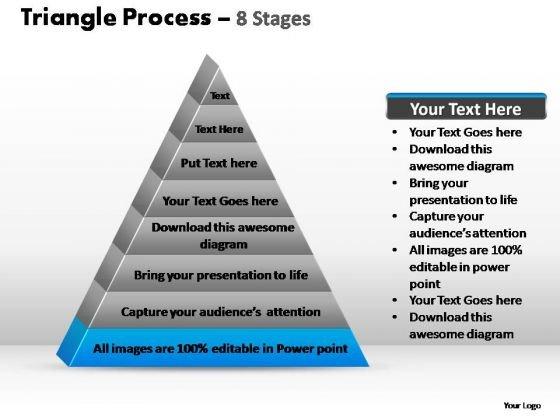 PowerPoint Layouts Chart Triangle Process Ppt Presentation
