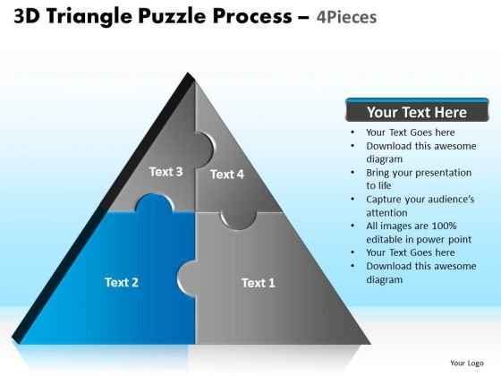 PowerPoint Layouts Chart Triangle Puzzle Ppt Backgrounds