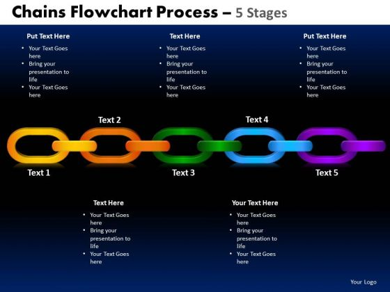 PowerPoint Layouts Circle Process Chains Flowchart Ppt Slides