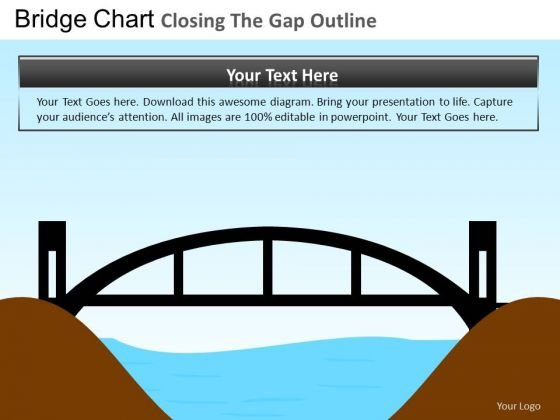 PowerPoint Layouts Closing Gap Company Success Ppt Template