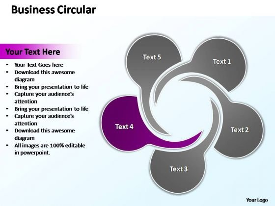 PowerPoint Layouts Company Circular Flow Ppt Presentation