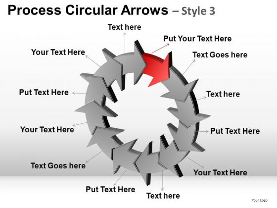 PowerPoint Layouts Company Competition Process Circular Arrows Ppt Design