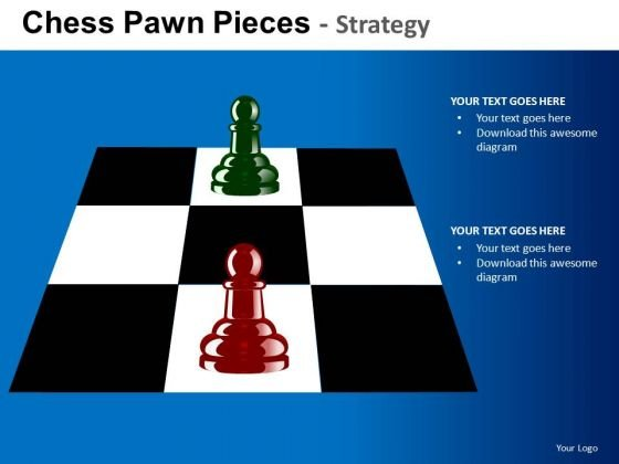 PowerPoint Layouts Company Growth Chess Pawn Ppt Presentation