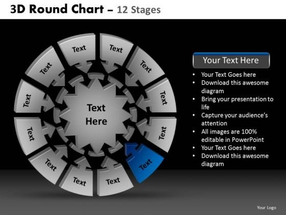 PowerPoint Layouts Company Round Chart Ppt Backgrounds