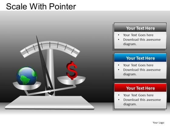 PowerPoint Layouts Corporate Success Scale With Pointer Ppt Themes