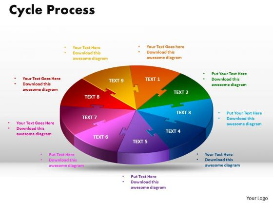 PowerPoint Layouts Cycle Process Company Ppt Slide Designs