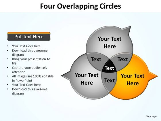 PowerPoint Layouts Diagram Four Overlapping Ppt Theme
