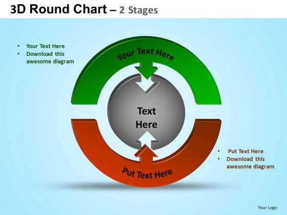 PowerPoint Layouts Diagram Round Process Flow Chart Ppt Template