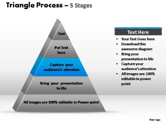 PowerPoint Layouts Diagram Triangle Process Ppt Template