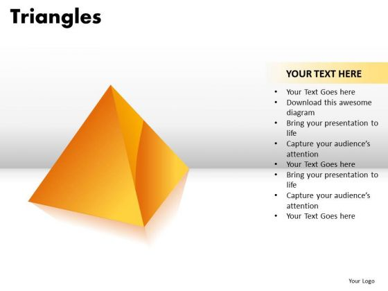 PowerPoint Layouts Diagram Triangles Ppt Slidelayout
