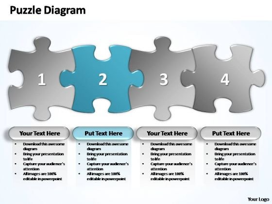 PowerPoint Layouts Download Business Stages Puzzle Ppt Backgrounds