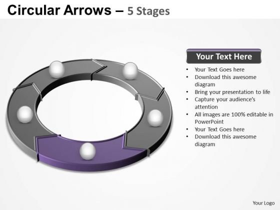 PowerPoint Layouts Download Circular Arrows Ppt Slides