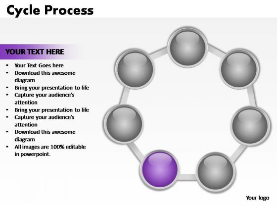 PowerPoint Layouts Download Cycle Process Ppt Themes