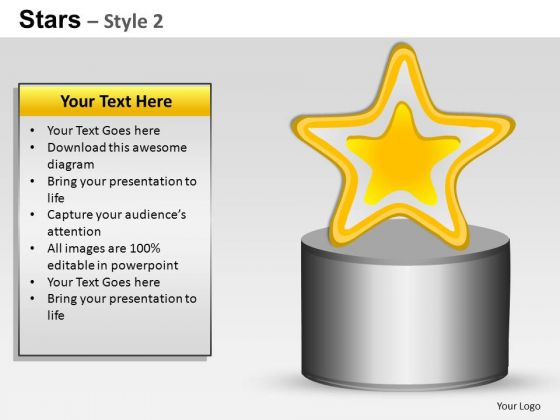 PowerPoint Layouts Download Stars Ppt Process