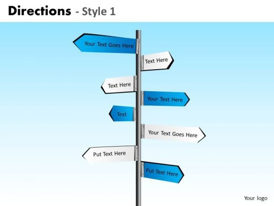 PowerPoint Layouts Editable Directions Ppt Design Slides