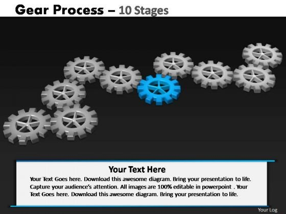 PowerPoint Layouts Editable Gears Process Ppt Template