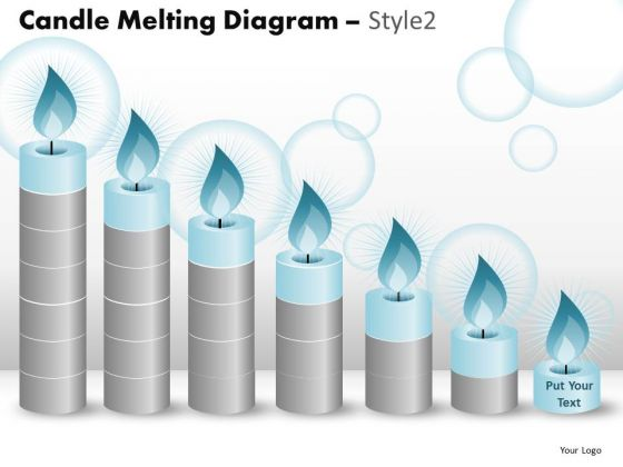 PowerPoint Layouts Education Candle Melting Ppt Slides