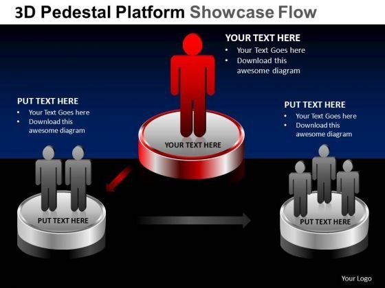 PowerPoint Layouts Education Pedestal Platform Showcase Ppt Slides