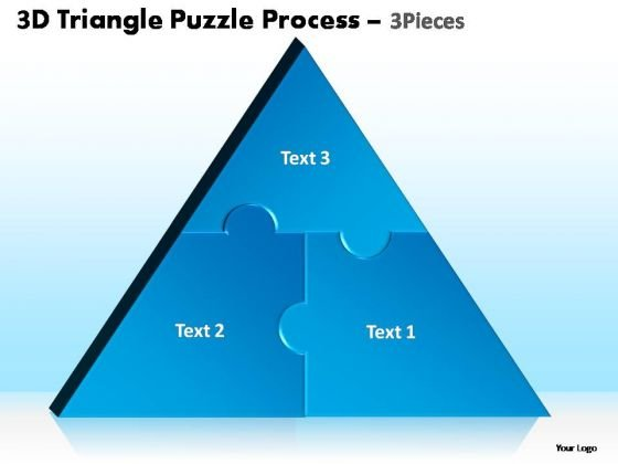 PowerPoint Layouts Education Triangle Puzzle Ppt Slide
