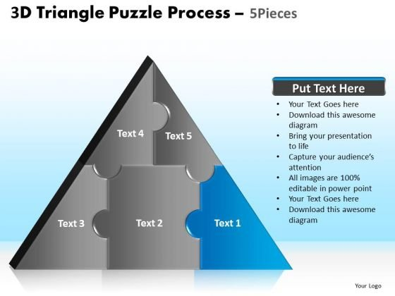 PowerPoint Layouts Education Triangle Puzzle Ppt Template
