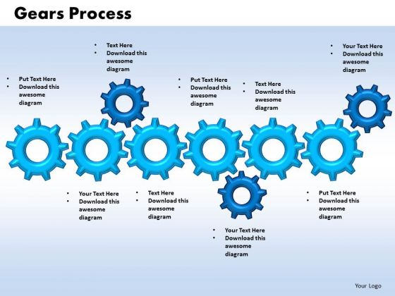 PowerPoint Layouts Gears Process Growth Ppt Design