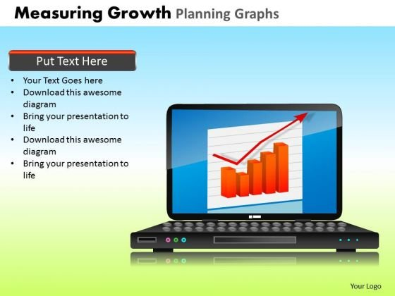 PowerPoint Layouts Global Measuring Growth Ppt Design