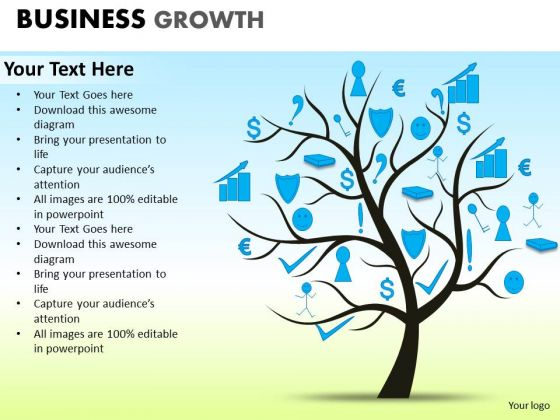 PowerPoint Layouts Graphic Business Growth Ppt Slide