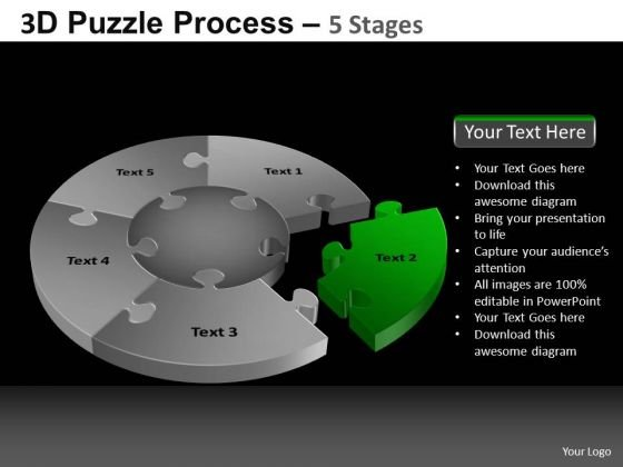 PowerPoint Layouts Graphic Pie Chart Puzzle Process Ppt Design Slides