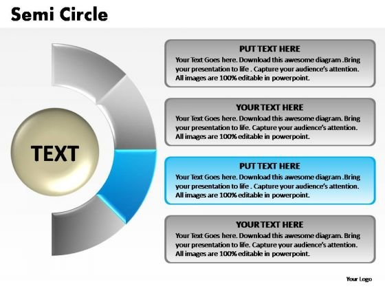 PowerPoint Layouts Graphic Semi Circle Chart Ppt Template