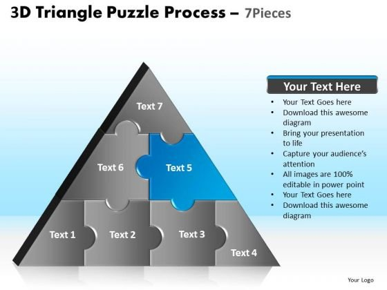 PowerPoint Layouts Graphic Triangle Puzzle Ppt Templates