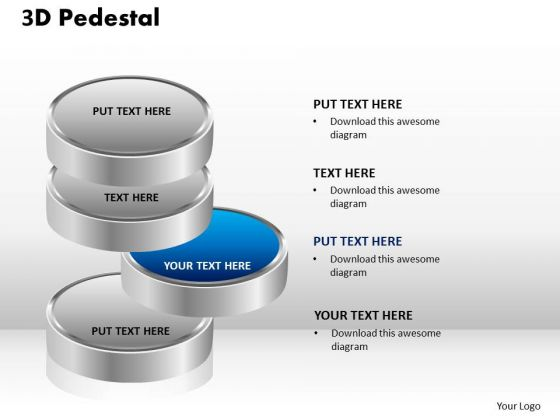 PowerPoint Layouts Growth 3d Pedestal Ppt Presentation