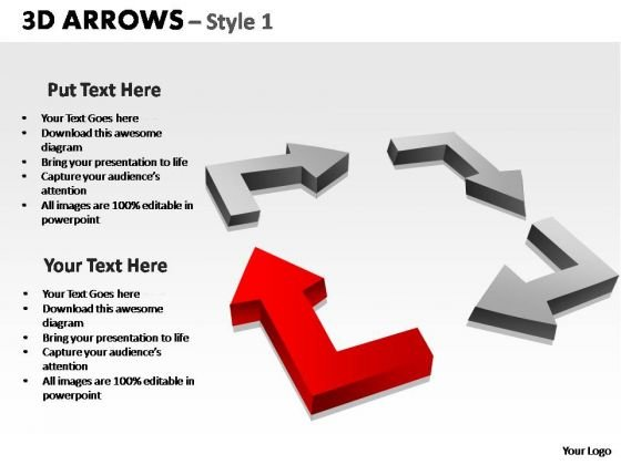 PowerPoint Layouts Growth Arrows Ppt Template