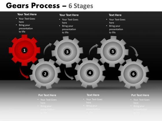 PowerPoint Layouts Growth Gears Process Ppt Design Slides