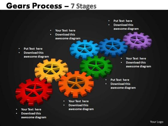 PowerPoint Layouts Growth Gears Process Ppt Template